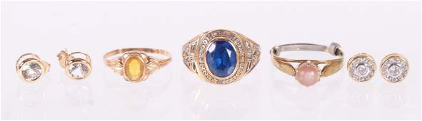 A Group of Gold Estate Jewelry