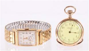 Two 14k Gold Watches, Wrist and Pocket