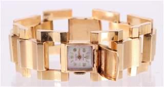 A Mid Century 14k Gold Ladies Watch