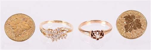 A Group of 14k Gold Estate Jewelry