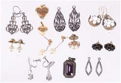 A Group of Silver and Gold Estate Jewelry