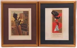 Two Prints from Les Maitres de L'affiche