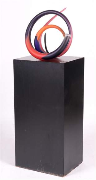 Paul Seide (Born 1949) Glass Sculpture