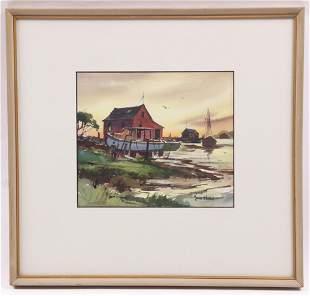 John Cuthbert Hare (1908 - 1978) Watercolor
