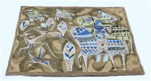 Istvan Ban (1922-1984) Modernist Tapestry