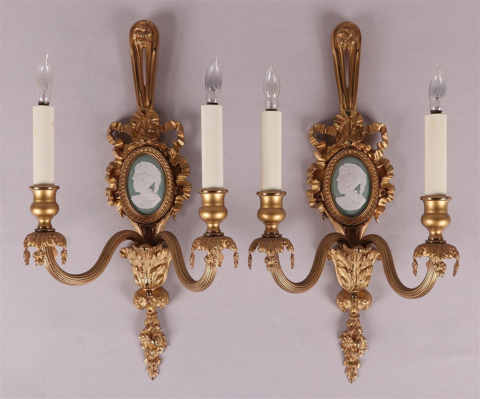 A Pair of Neoclassical Style Wall Sconces