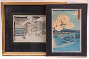 Two Japanese Woodblock Prints, Hiroshige