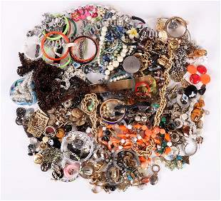 A Large Group of Costume Estate Jewelry
