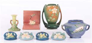 A Group of Roseville Pottery