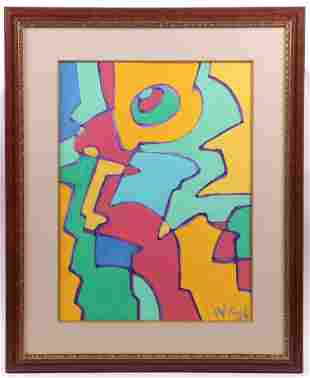 Wayne Cunningham (20th Century) Acrylic on Paper