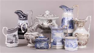 Nine Pieces of 19th Century English Transferware