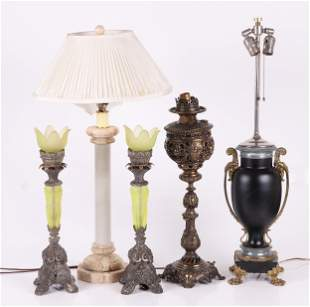 A Group of Five Table Lamps