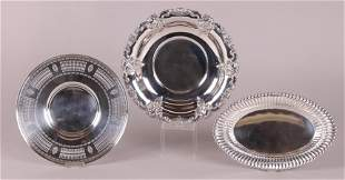Three Sterling Silver Serving Trays