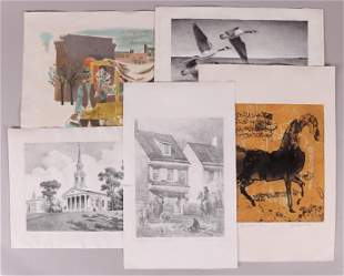 Group of Prints Including Grant Miles Simon