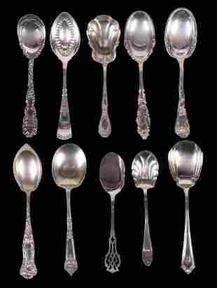 An Assortment of Silver Sugar Shells