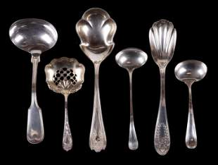 A Group of Six Sterling Serving Pieces