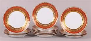 A Set of KPM Porcelain Dinner Plates