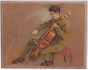 Brantley Smith (19/20th century) Pastel