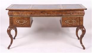 Continental Style Burl Wood Desk
