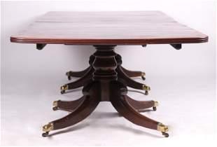 An English Mahogany Dining Table