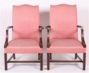 A Pair of Lolling Chairs by Hickory Chair Co