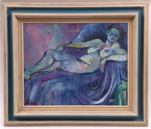 Oil on Canvas, 20th Century, Abstract Nude