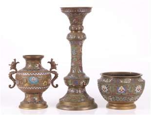 Three Pieces of Japanese Bronze