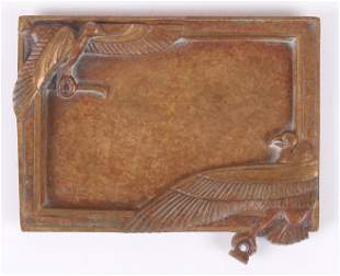 A French Egyptian Revival Bronze Tray