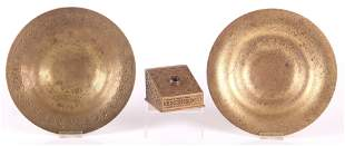 Three Pieces of Tiffany Bronze