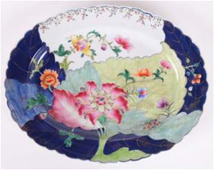A Chinese Export Tobacco Leaf Platter