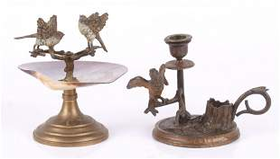 Two Vienna Cold Painted Bronze Objects