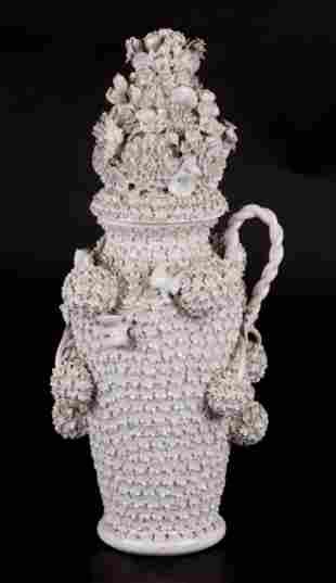 A Meissen Schneeballen Covered Vase