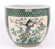 A Chinese Famille Verte Porcelain Jardiniere