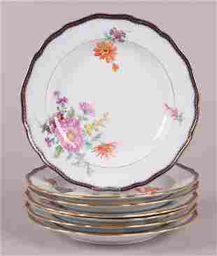 A Set of Meissen Porcelain Deep Plates