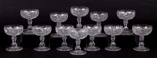 A Set of Cut Crystal Sherbets