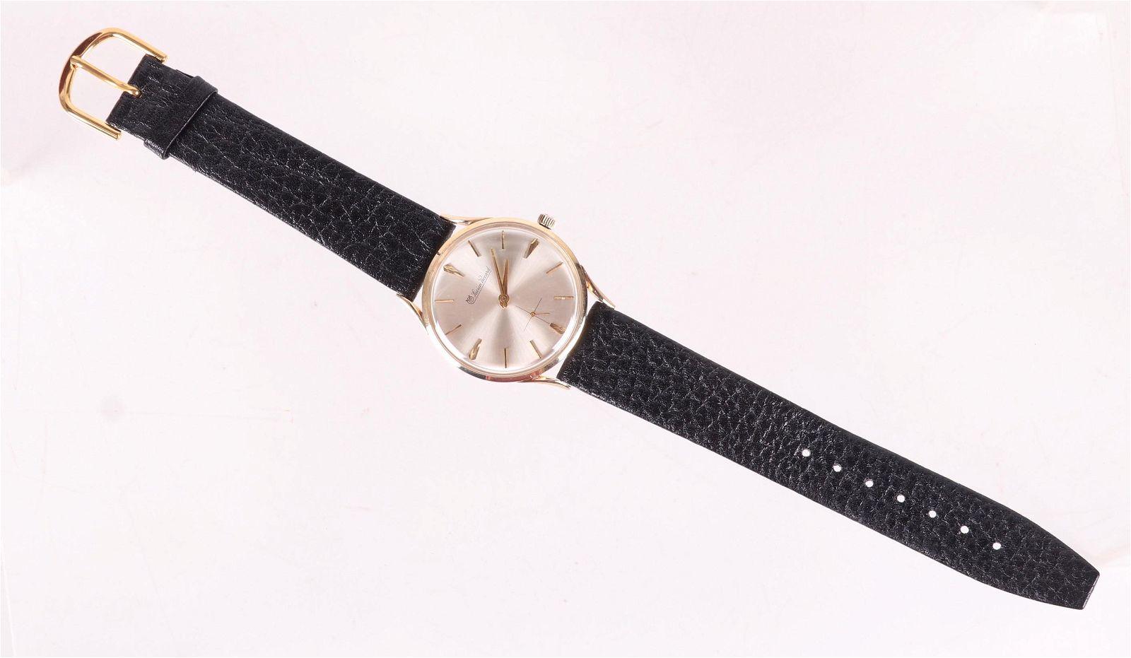 A Vintage Lucien Piccard 14k Gold Men's Watch