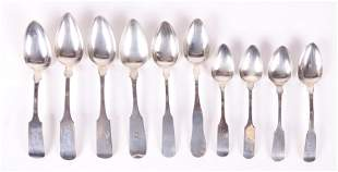 A Group of American Coin Silver Spoons