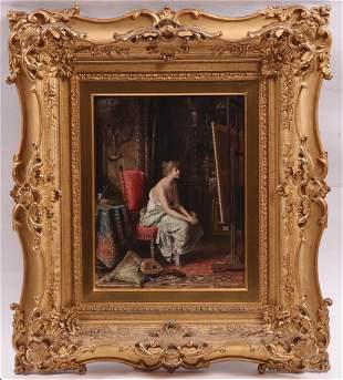 Carl Schwenninger I (1818 - 1887) Oil on Board