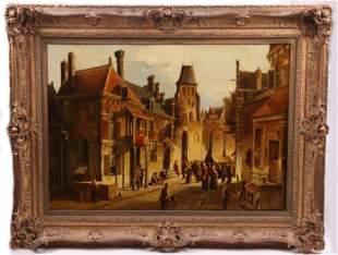 Oene Romkes Jongh (1812 - 1896) Oil on Canvas