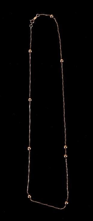 A 14k Gold Necklace
