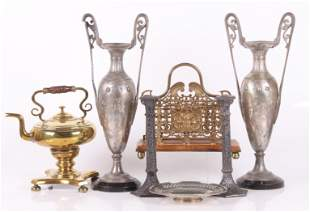 Estate Lot, Metalware, Brass, Pewter, Silver