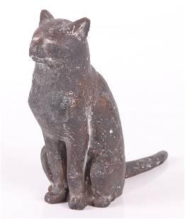 A Bronze German or Austrian Cat