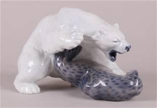 A Royal Copenhagen Porcelain Figure, Polar Bear