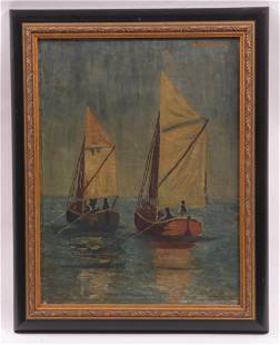Oil on Canvas, Dated 1928