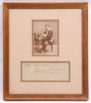 A Framed Photograph of Enrico Caruso