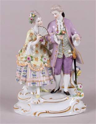 A Meissen Figural Group