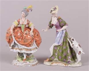 Two Porcelain Figures, Nymphenburg, Dresden