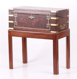 An English Rosewood Lap Desk