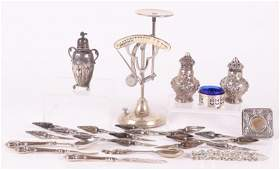 A Group of Small Sterling Silver Articles