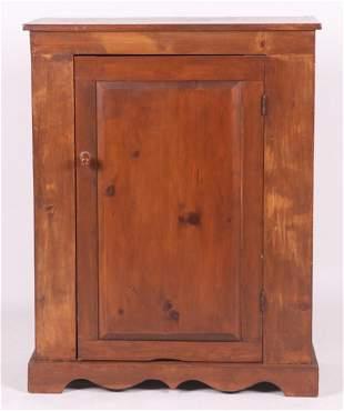 A Single Door Pine Cupboard